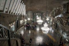 Miniera di sale di Wieliczka, ³ w, Polonia di Krakà fotografia stock libera da diritti