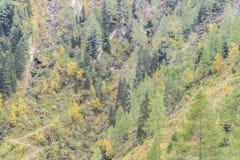 Miniera nelle alpi dell'Austria Fotografie Stock Libere da Diritti