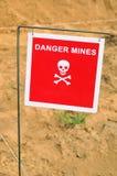 Miniere del pericolo Fotografie Stock Libere da Diritti