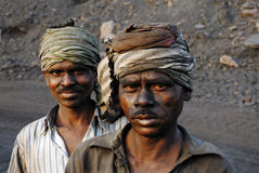 Miniere di carbone in India Fotografia Stock Libera da Diritti