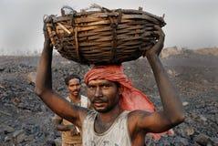 Miniere di carbone in India fotografie stock libere da diritti