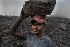 Miniere di carbone in India Immagine Stock