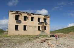 Miniere di costruzione distrutte nelle montagne di Altai Fotografia Stock Libera da Diritti