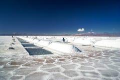 Miniere di sale in Argentina fotografie stock libere da diritti