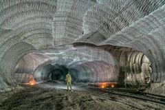 Miniere in sotterraneo L'Ucraina, Donec'k fotografie stock libere da diritti