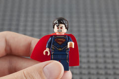 Minifigure de Lego Superman Photographie stock libre de droits