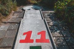 Minigolf в Domburg спрятанном в дюнах, Нидерланд стоковое фото
