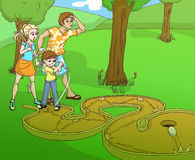 minigolf семьи Стоковая Фотография RF