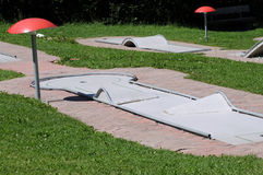 Minigolf course Stock Image