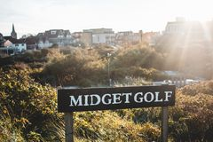 The minigolf in Domburg hidden in the dunes, The Netherlands royalty free stock photo