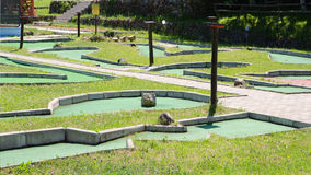 Minigolf resort in park Stock Images