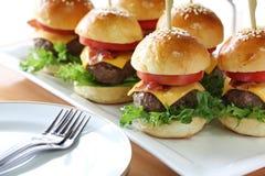 Minihamburger stockfotos