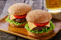 Minihamburger Royalty-vrije Stock Afbeeldingen