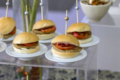 Minihamburger Royalty-vrije Stock Foto's