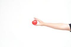 Miniheart op hand Stock Fotografie