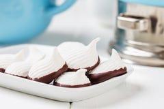 Miniheemst met chocolade Royalty-vrije Stock Afbeelding