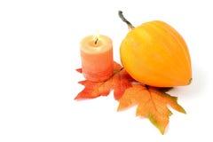 Minikürbise auf lokalisiertem weißem Hintergrund Halloween Stockfoto
