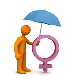 Minikin Umbrella Feminine Stock Image