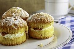 Minikuchen auf einer Platte Stockfoto