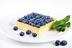 Minikuchen mit Blaubeeren und Minze Lizenzfreie Stockbilder