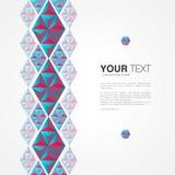 Minimaal abstract ontwerp als achtergrond met uw inhoud stock illustratie