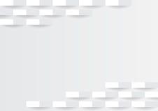 Minimaal abstract wit rechthoekig de stijl van het meetkunde zwart-wit concept ontwerp als achtergrond Stock Foto