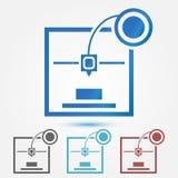 Minimaal 3d printer vectorpictogram royalty-vrije illustratie
