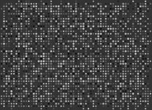 Minimaal Dots Wallpaper Vector Zwart-wit Pixelachtergrond royalty-vrije illustratie