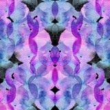 Minimaal geometrisch waterverfpatroon Het natte vloeibare motief van de borstelverf Royalty-vrije Stock Afbeeldingen