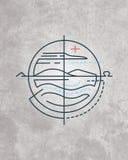 Minimaal godsdienstig symbool stock illustratie