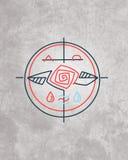Minimaal godsdienstig symbool vector illustratie