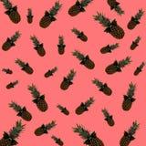 Minimaal klein pineaplle menselijk abstract art. Stock Fotografie