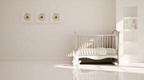 Minimaal modern binnenland van kinderdagverblijf. B&W Royalty-vrije Stock Afbeeldingen