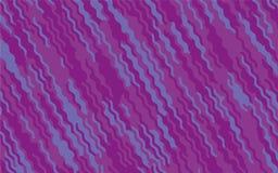 Minimaal ontwerp Abstract patroon met golflijnen Violet Striped Background Geometrische golvende achtergrond Vector illustratie Stock Foto