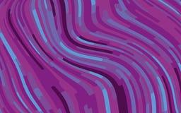 Minimaal ontwerp Abstract patroon met golflijnen Violet Striped Background Geometrische golvende achtergrond Vector illustratie Stock Afbeelding