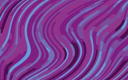Minimaal ontwerp Abstract patroon met golflijnen Violet Striped Background Geometrische golvende achtergrond Vector illustratie Stock Foto's