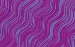 Minimaal ontwerp Abstract patroon met golflijnen Violet Striped Background Geometrische golvende achtergrond Vector illustratie Royalty-vrije Stock Fotografie