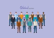 Minimaal vlak karakter van globale bedrijfsconceptenillustraties Royalty-vrije Stock Fotografie