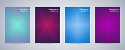 Minimal abstract covers design. Poster with graphics background. Vector illustration Royalty Free Stock Photo