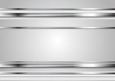 Minimal abstract technology metallic vector background Royalty Free Stock Images