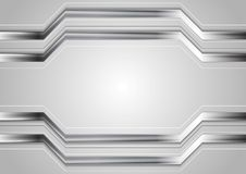 Minimal abstract technology metallic vector background Royalty Free Stock Photography