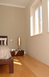 Minimal Modern and Bright Bedroom - Floorboard Stock Images