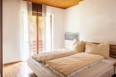 Minimal bedroom Stock Photography
