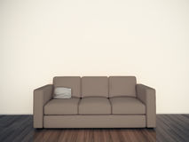 Minimal blank interior couch. Modern comfortable interior, 3d image Royalty Free Stock Photo