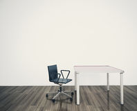 Minimal blank interior office royalty free illustration