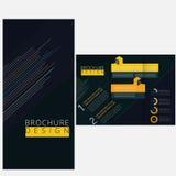 Minimal brochure. Template layout design Stock Photo