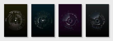Minimal brochure templates. elements on dark royalty free illustration