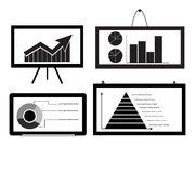 Minimal Cart ,bar Chart ,Arrow Chart Pie Chart ,Py Royalty Free Stock Images