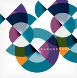 Minimal circle abstract background design, multicolored template for business or technology presentation or web brochure. Cover layout, wallpaper. Vector royalty free illustration