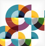 Minimal circle abstract background design, multicolored template for business or technology presentation or web brochure. Cover layout, wallpaper. Vector Stock Photo